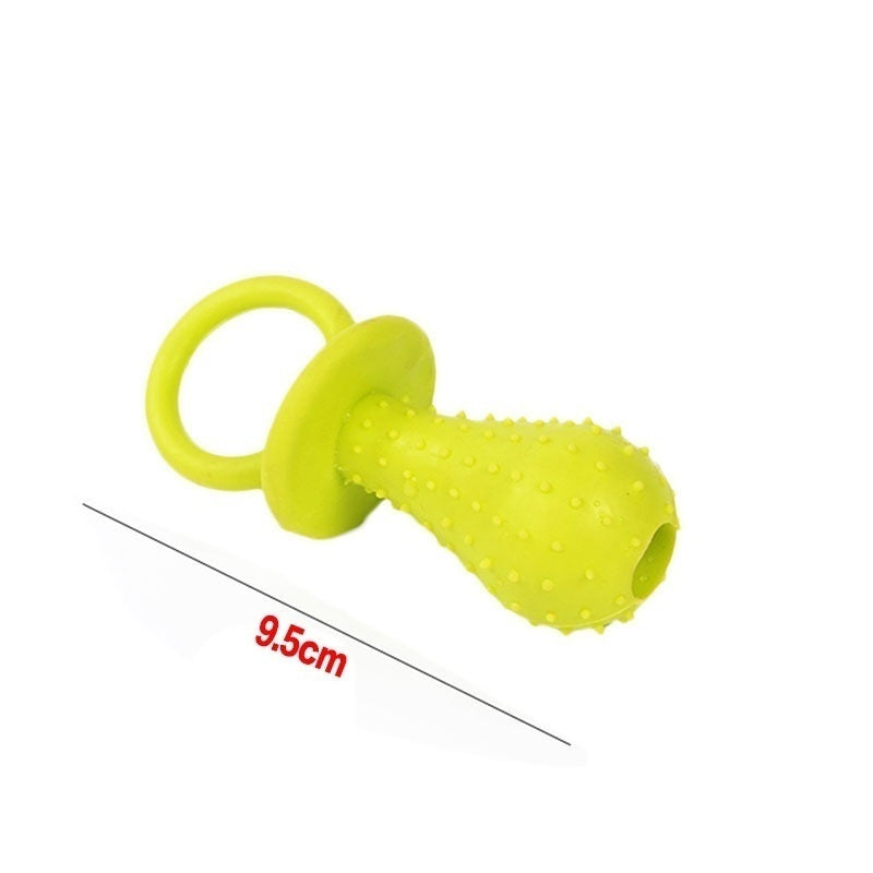 1/2Pcs 10cm TPR Dog Toys Pet Chewing Toy Rubber Molar Pet Toy Teat Nipple Shape Teething Train