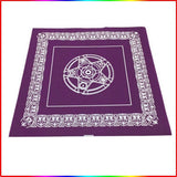 1pc 49X49cm Tablecloth Pentacle for Tarot Game Rider Tarot Deck Board Game Card Waite