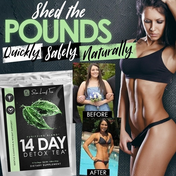 Detox Tea - 14 Day Cleanse - CLEANSE Herbal Teatox Reduces Bloating & Burns Fat