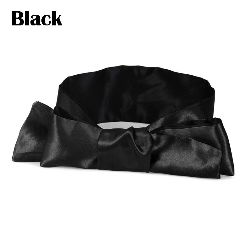 Soft Satin Blinder Eye Mask Flirt Blindfold Patch Cover Lingerie Sexy Band Ties YYO