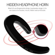 Load image into Gallery viewer, Bone Conduction Earphone Sport Bluetooth Headset Hands Free Car Driver Stereo Earphones Earhook Wireless Earphones With Mic 1PS