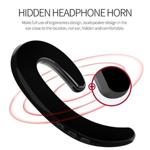 Bone Conduction Earphone Sport Bluetooth Headset Hands Free Car Driver Stereo Earphones Earhook Wireless Earphones With Mic 1PS