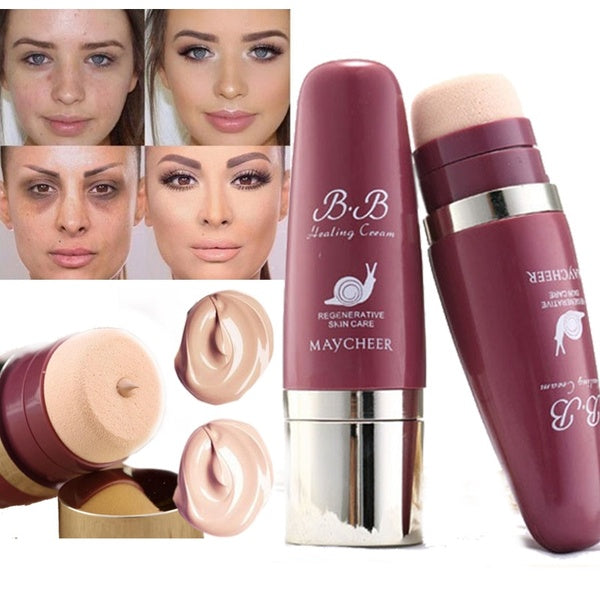 Oil-control Base BB Face Foundation Cream Anti-wrinkle Concealer Matte Face Full Coverage Snail Cream Makeup Foundation
