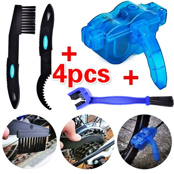 New Bicycle Chain Cleaner Cycling Repair Machine Brushes Wash Tool Set MTB Mountain Bike Chain Cleaner Tool Kits