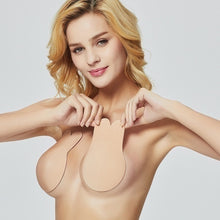 Load image into Gallery viewer, Women Strapless Silicone Bra Push-up Invisible Gel Covers Self Adhesive
