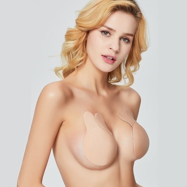 Women Strapless Silicone Bra Push-up Invisible Gel Covers Self Adhesive