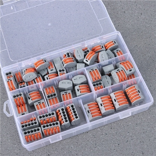 Quick Connector Terminal Concatenate Universal Durable Premium Wiring Artifacts Connectors with Storage Box