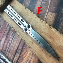 Load image into Gallery viewer, Pocket Practice Knife Tactical Butterfly Knives Balisong Training KNIFE Combat Hunting Knifes Very Sharp Blade camping knifes