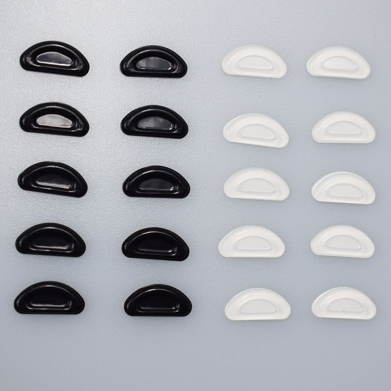 10 Pair Glasses Nose Pads Adhesive Silicone Nose Pads Non-slip White Thin Nosepads for Glasses Eyeglasses Sunglasses