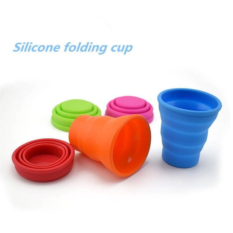 Creative Silicone Folding Cup Silicone Cup Outdoor Portable Silicone Portable Travel Retractable Water Cup