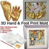 DIY Hand Mold Powder Cloning Model 3D Hand Mud Baby Souvenir Baby Hands Feet Gypsum Powder