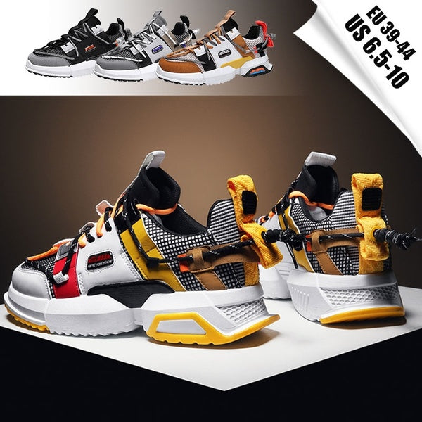 Men's Fashion Outdoor Tide Shoes Casual Sneakers Men Comfortable Dad Shoes