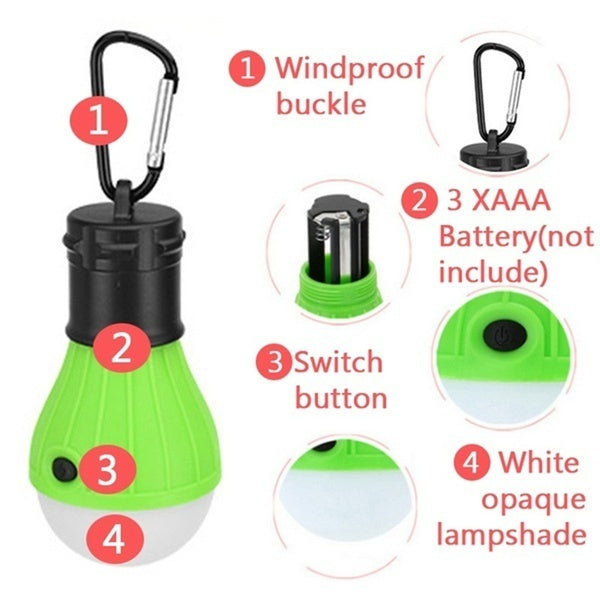 New Portable LED Camping Hanging Light Tent Fishing Lantern Lamp Emergency Lamp Outdoor Accessories