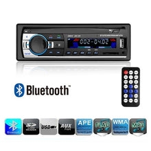 Load image into Gallery viewer, Car Radio Bluetooth Handsfree Support USB/SD MMC Port 12V Car Stereo FM Radio MP3 Audio Player 1 Din In-Dash Autoradio