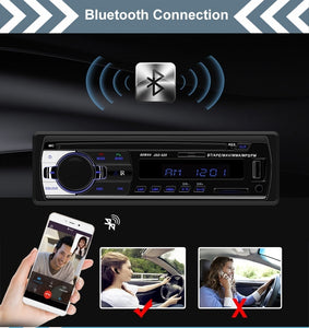 Car Radio Bluetooth Handsfree Support USB/SD MMC Port 12V Car Stereo FM Radio MP3 Audio Player 1 Din In-Dash Autoradio