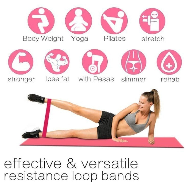 Fourth-order Resistance Bands Fitness Gum Set Exercise Sports Elastic Band for Fitness Pilates Strength Training Rubber Loop Expander