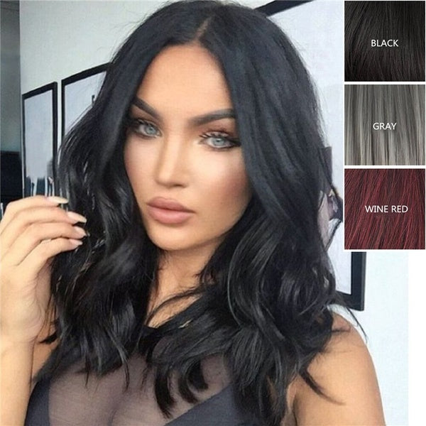 Usual Natural Black Beauty Cute Short Hair Roll  Short  Human Ombre Hair Wigs Bob Wig For Usual Need