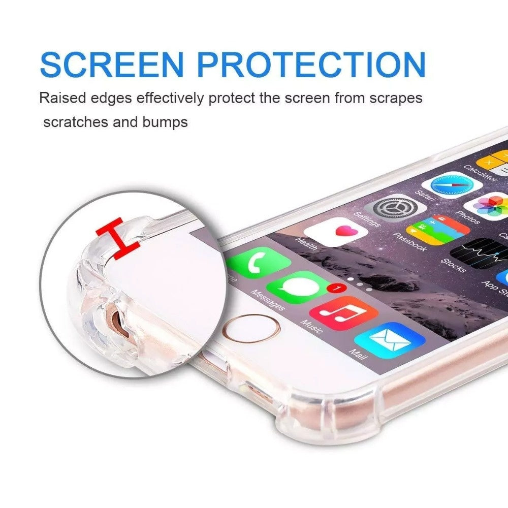 Transparent TPU Cell Phone Protective Case with Lanyard Shoulder Necklace Adjustable Strap Rope Cord 150cm for Iphone  7 8 Plus X Xs Xr Xs Max