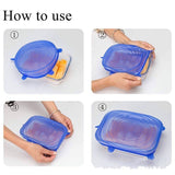 Eco-Friendly Reusable Silicon Food Cover Food Grade Silicon Stretch Lids Universal Lid Silicone Food Wrap-bowl Pot Lid-silicone Cover(6pcs/set, 12pcs/2set, optional)
