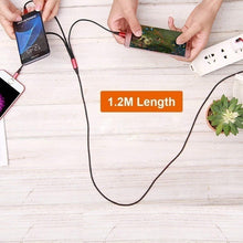 Load image into Gallery viewer, 2019 hot sale multi-function charger cable universal 3 in 1 multiple USB charging cable adapter with illumination, micro usb, usb c port, for Android iPhone