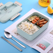 Load image into Gallery viewer, Microwave Lunch Box Wheat Straw Dinnerware Food Storage Container Children Kids School Office Portable Bento Box