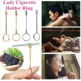 High quality Smoking Cigarette Finger Ring Smoker Cigarette Hand Holder for Lady.