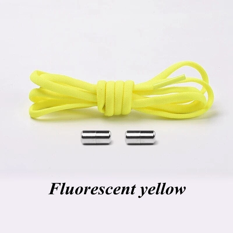1Pair No Fasten Shoelace Elastic Locking Shoelaces Kids Adult Sneakers Quick Semicircle Shoelace Lazy Shoe Laces (16 Colors)