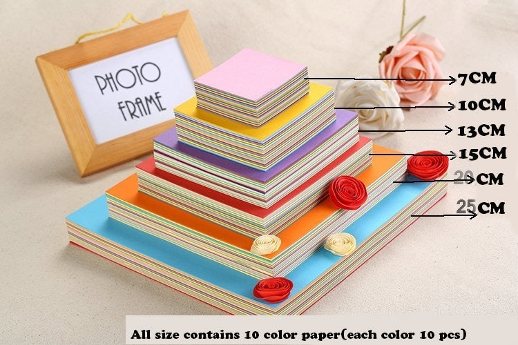 7Color 100 Sheets Origami Paper 10 Colors MIX