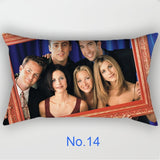 1PC Popular TV Friends Print Pillowcase Car Sofa Waist Cushions Kissen Oreiller Almohada Pillow Sofa Car Bed Sofa Pillow Case Bedroom Decoration Cushion Cover(without Inner)