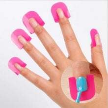 Load image into Gallery viewer, 26Pcs Spill-proof Finger Cover Sticker Nail Polish Varnish Protector Holder G Curve Shape