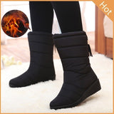 New Hot Winter Women Snow Boots Female Casual Ankle Boots Black Red