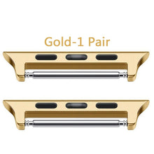 Load image into Gallery viewer, JUNBOR Ear Connector for Apple Watch Band 38/40/42/44 Compatible for Iwatch Series 4/3/2/1 Stainless Steel Buckle Clasp Adapter 1 Pcs/Pair (According to Your Choose)