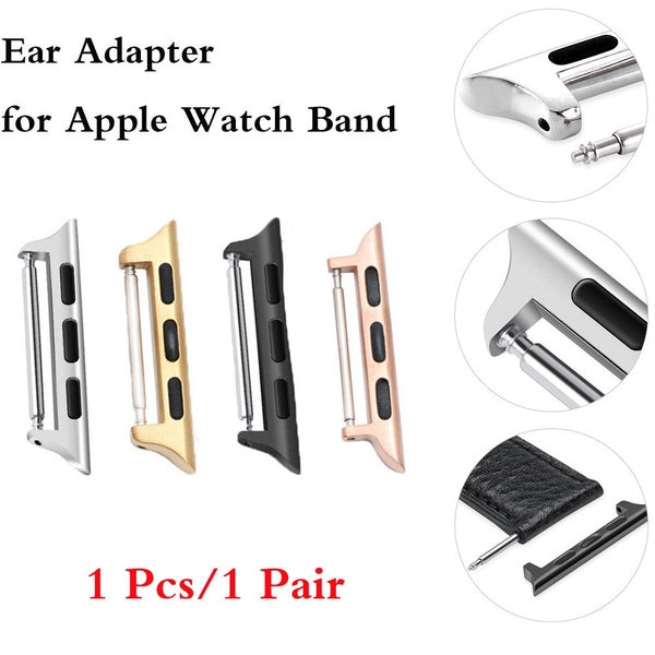 JUNBOR Ear Connector for Apple Watch Band 38/40/42/44 Compatible for Iwatch Series 4/3/2/1 Stainless Steel Buckle Clasp Adapter 1 Pcs/Pair (According to Your Choose)