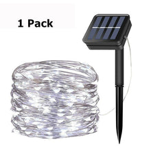 Load image into Gallery viewer, Solar String Lights 98FT-300LED,66FT-200LED,33FT-100LED Copper Fairy Light 8 Modes Waterproof Outdoor Decor Lights for Garden Patio Gate Yard Party Wedding(1/2/4Pack)