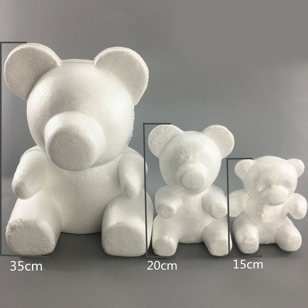 1 Pcs 15cm/20cm/33cm White Foam Bear Mold Bear Birthday Gifts o