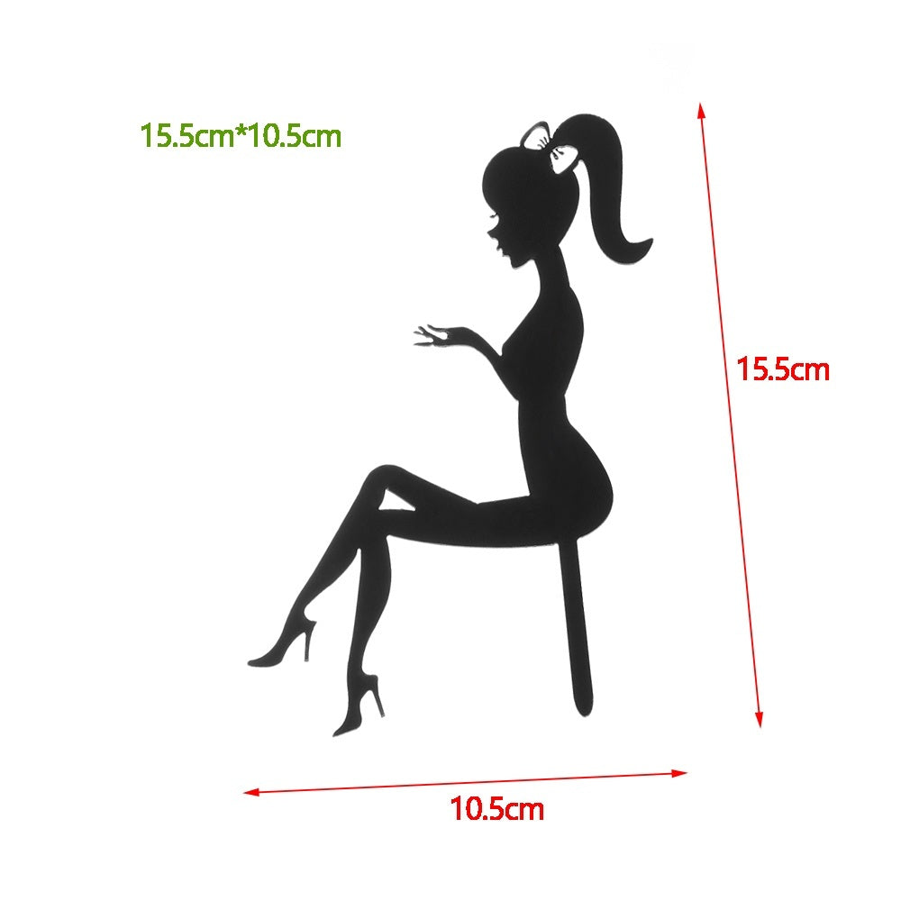 Lady Girl Dessert High Heels Party Decoration Cupcakes Cake Decorating Tool Happy Birthday Acrylic Cake Topper