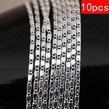 Load image into Gallery viewer, European and American classical leisure 2mm wide 925 sterling silver flat necklace 18-30 inch with chain clavicle chain single chain 5PCS / 10PCS / set