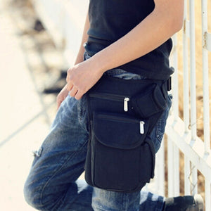 1PC Cotton Outdoor Leg Bag Sport Canvas Waist Bag Money Belt Fanny Pack