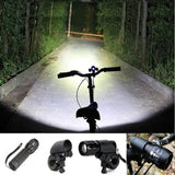 Bike LED Flashlight Torch Bicycle Front Light Headlight with Clip Mount