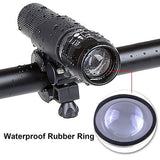 Bike Cycling Bicycle LED Flashlight Front light Headlight Torch with Bicycle Mount