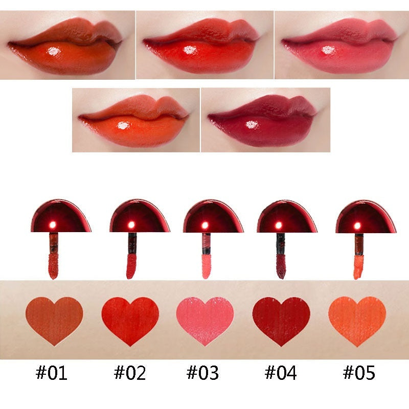 LUWHICEY Professional Lips Makeup Waterproof Long Lasting Heart-shaped Shimmer Lipstick Stick Lips Batom Luxury Makeup