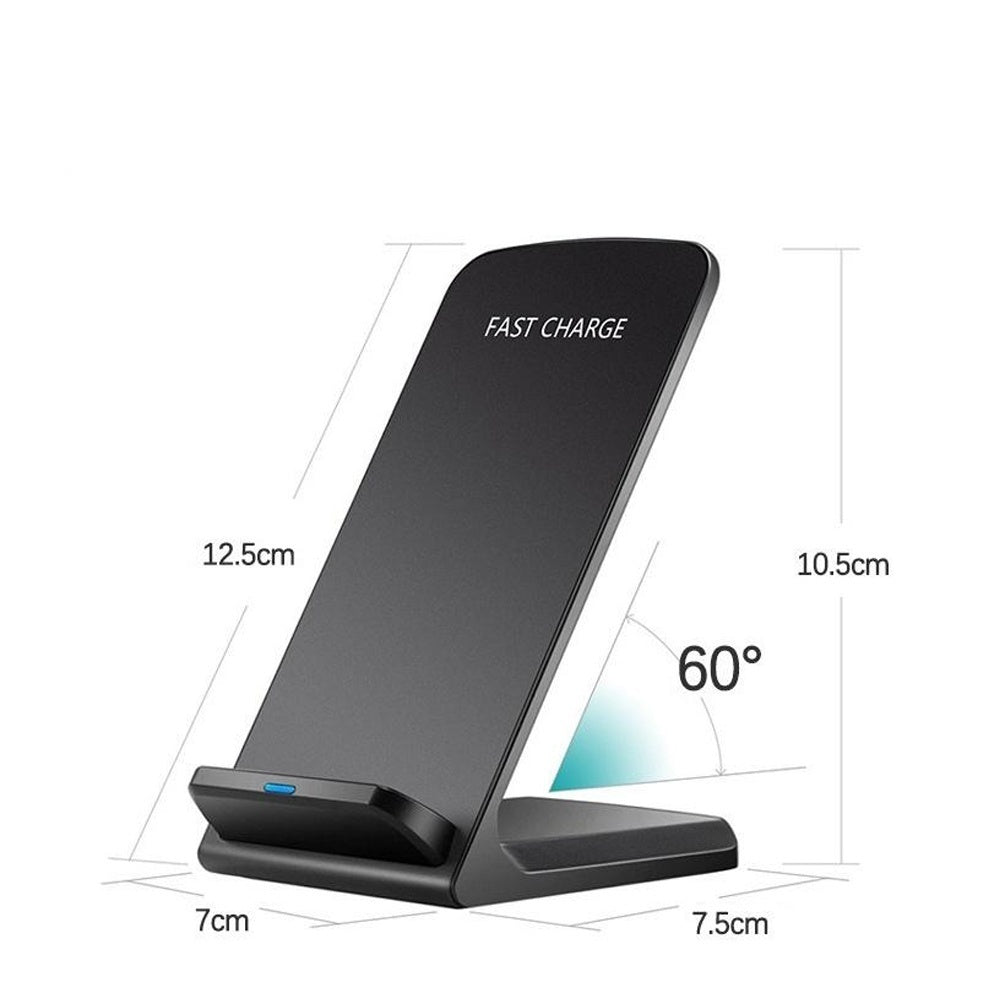 Qi Universal Wireless Charger Fast Charging Stand Dock for Mobile Phone