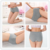 5/10pcs one pack Women's High Waist Cotton Panties Briefs Soft Breathable Comfy Underwear Plus Size M-XL