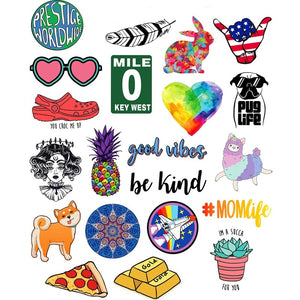 40 PCS INS Style Cartoon Cute Sticker, Laptop Guitar Luggage Helmet Diary Storage Box Phone Stickers Waterproof Vinyl Decal for Kids Adults