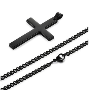 Vintage Cross Pendant Necklace Stainless Steel Necklace New Design  Pendant Necklace Men Women Necklace