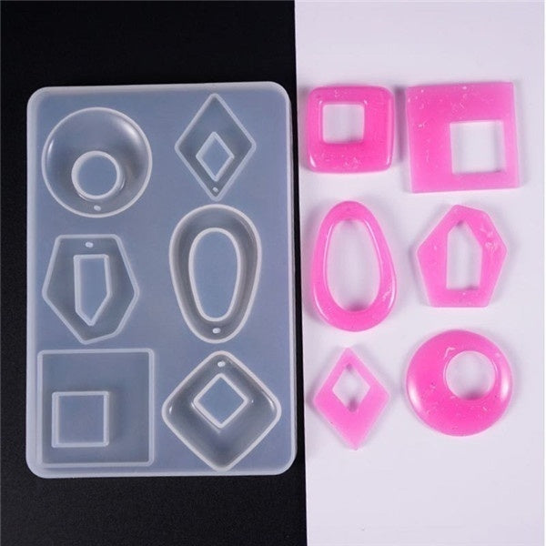 Transparent Silicone Mold Dried Flower Resin Decorative Craft DIY Pendant Earring Mold Epoxy Molds for Jewelry