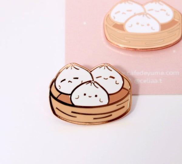 Bao Dim Sum Women Decoration Fashion Jewelry Brooch Pin