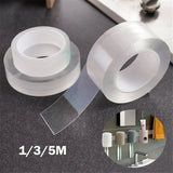 1/3/5M Reusable Multifunctional Double-Sided Traceless Adhesive Tape Nano PU Gel Magic Tape