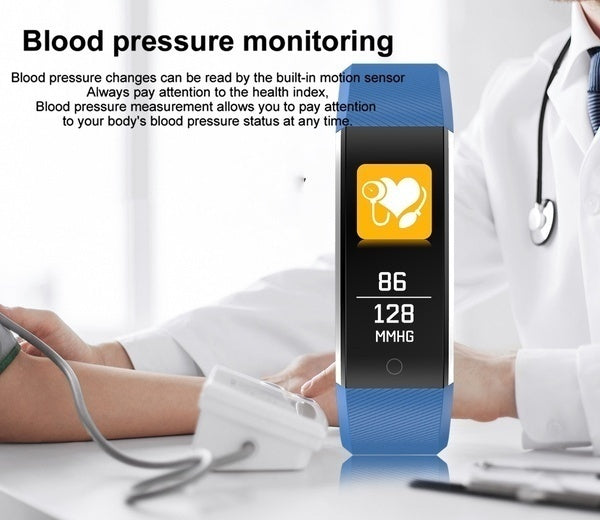 Color Screen Bluetooth Smart Bracelet Band Waterproof Ip68 Swimming Sport Pedometer Activity Tracker Heart Rate Blood Pressure Monitor Smart Wristband