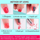 1 Bottle 5ml/8ml Newly Nail Gel/Polish Magic Remover Healthy Nail Care Fast Within 2-3 MINS